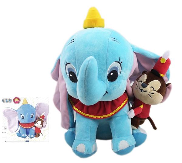 【卡漫城】 小飛象 玩偶 35公分 ㊣版 Dumbo 絨毛娃娃 布偶 迪士尼 大象 老鼠 提姆 日版 擺飾 佈置