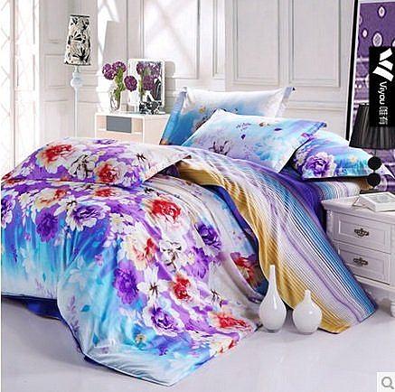 100%全棉床上用品四件套婚慶