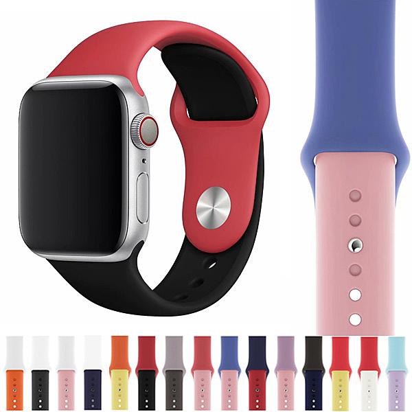 蘋果 Apple Watch 蘋果手錶錶帶 38mm 42mm 40mm 44mm 撞色錶帶 錶帶 智慧 蘋果手錶