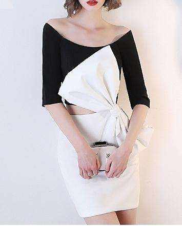 (45 Design高雄實體店面)  定製七天 晚禮服 洋裝 長禮服 伴娘服 前短後長 短禮服 小洋裝 大尺寸32