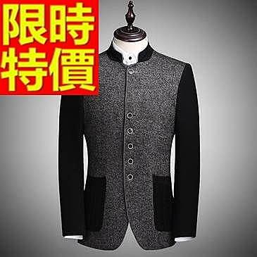 中山裝-隨意休閒羊毛中國風男西裝外套65e44【時尚巴黎】