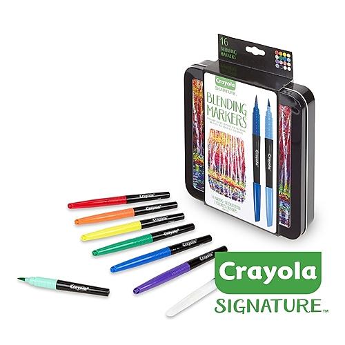 美國Crayola繪兒樂 文藝經典系列 彩繪融合藝術筆精裝組16色 麗翔親子館