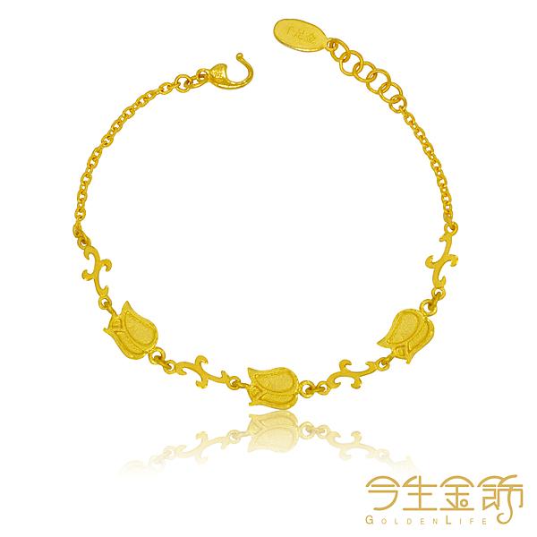今生金飾 聖誕芳情手鍊 純黃金手鍊