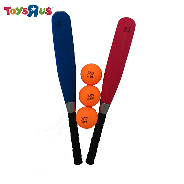 """玩具反斗城 MG 24""""PU胖胖球棒&棒球套組(1棒含3球)"""
