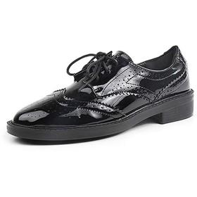 [ヤク] レースアップシューズ 23.5cm レディース おじ靴 厚底 スニーカー 歩きやすい 春靴 歩きやすい カラー 幅広 甲高 疲れない 痛くない コスプレ ローファー カジュアル レトロ 小さいサイズ プラットフォームシューズ