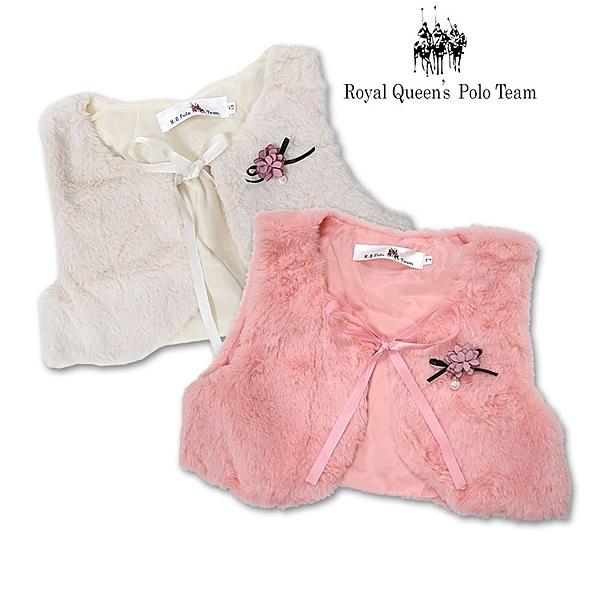 小女童絨毛綁帶背心小外套 *2色[85263] RQ POLO 秋冬童裝
