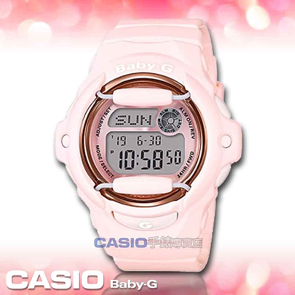 CASIO卡西歐 手錶專賣店   BABY-G BG-169G-4B 電子女錶 樹脂錶帶 粉 防水200米