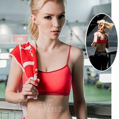 運動內衣-可調式彈力肩帶-慢跑瑜珈有氧運動內衣 星光密碼P068桃紅