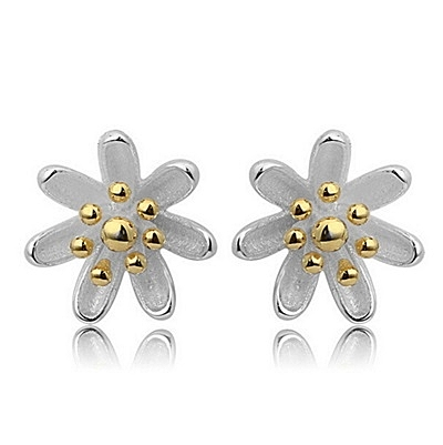 925純銀耳環(耳針式)-生日母親節禮物優雅花朵流行女飾品2色73ag112【巴黎精品】