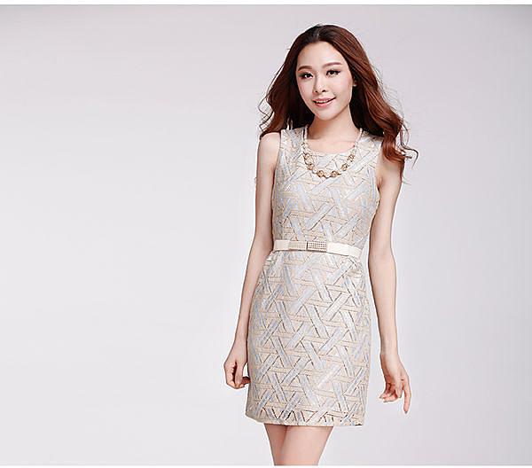♥ 俏魔女美人館 ♥ 2015新款韓國品牌名媛修身顯瘦包臀OL夏連衣裙