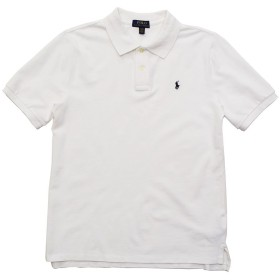 (ポロ ラルフローレン) POLO RALPH LAUREN ボーイズ 半袖 ポロシャツ ポロプレイヤー クラシックフィット 白 ホワイト XL(USボーイズサイズ) [32360325] [並行輸入品]