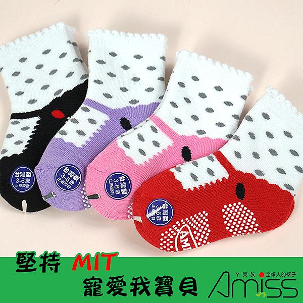 Amiss【C610-3】舒柔全起毛-可愛娃娃鞋止滑童襪(3-6歲;3雙入)