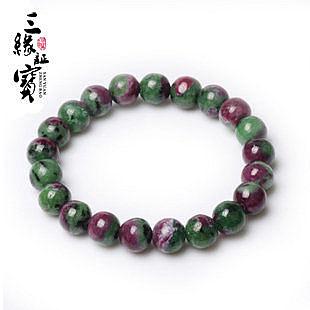 紅綠寶手鏈 原礦稀有寶石女 水晶飾品 禮物