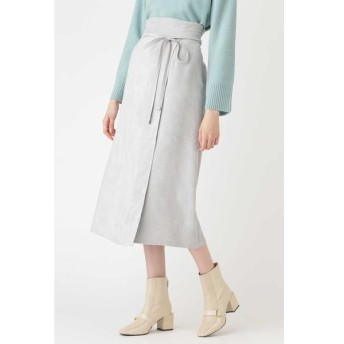 JILLSTUART / ジルスチュアート ◆ノアフェイクスエードラップ風スカート