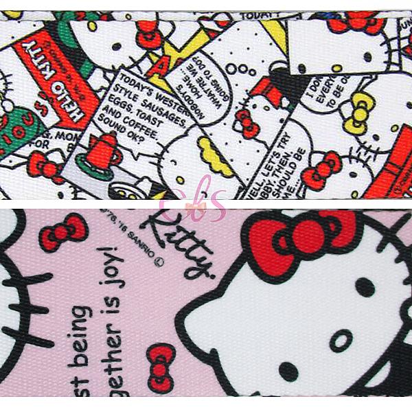 日本 凱蒂貓 HELLO KITTY 旅行箱 行李箱束帶 漫畫格 粉色/白色 兩款供選 ☆艾莉莎ELS☆