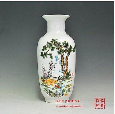 景德鎮陶瓷器工藝品 擺件花瓶現代時尚裝飾品擺設 花瓶