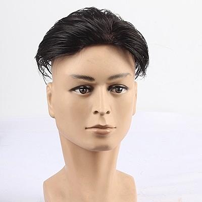 假髮片(真髮絲)-仿真頭皮髮頂補髮男假髮73uf15【時尚巴黎】