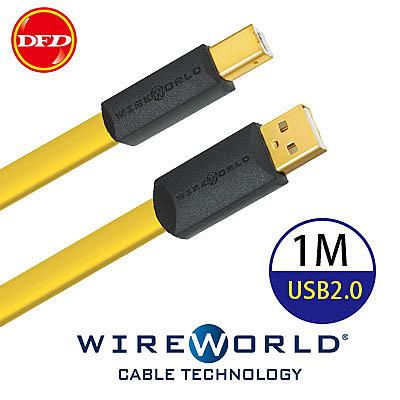 WIREWORLD 美國 Chroma 7 USB A 對 B 數位音訊線 1M 鍍銀OFC (USB2.0) 公司貨