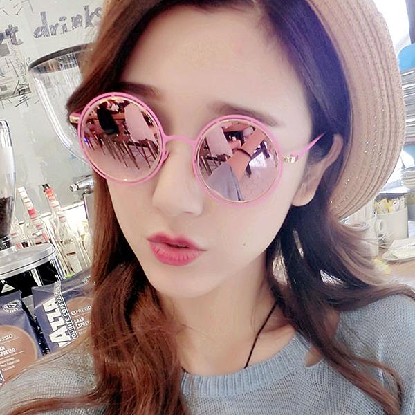 墨鏡 糖果色復古圓形太陽眼鏡【O3302】☆雙兒網☆