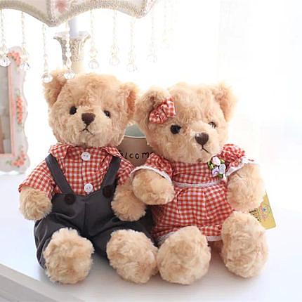 可愛創意熊寶貝一對絨毛玩具 新年禮物 結婚禮物 生日禮物!! (35cm一對)