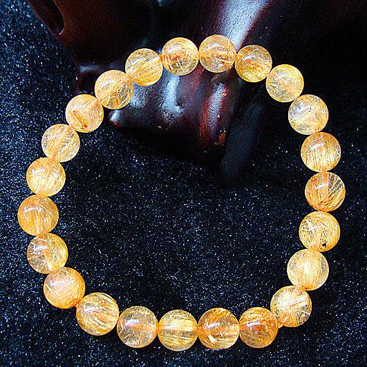 金發晶 水晶手鏈