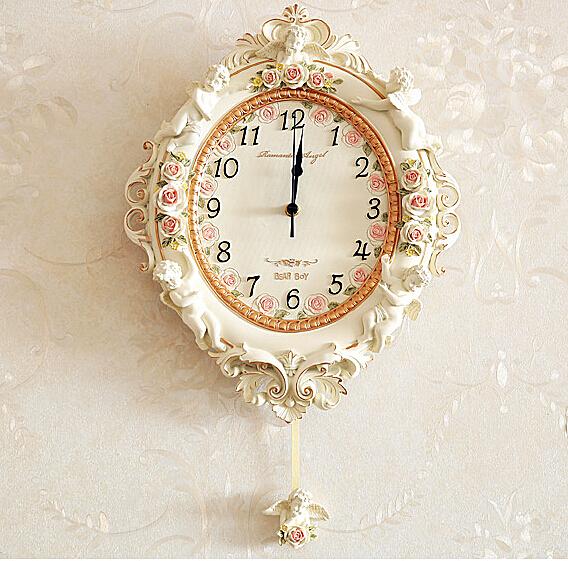 田園時尚可愛掛鐘2 超靜音家居裝飾品 客廳 臥室壁鐘