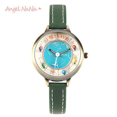 手工軟陶錶-韓國mini正品【SWA0115】 童話立體粉雕女手錶.畢業禮物情人節禮物-環遊世界