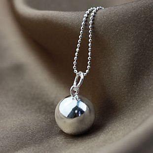 簡約小銀球 銀項鏈