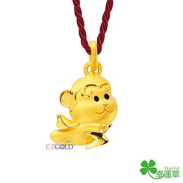 黃金墜飾-猴犀雷-JP542