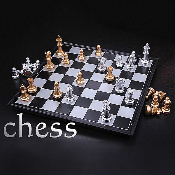 【888便利購】磁性西洋棋(金銀版)(益智)(攜帶收納方便)