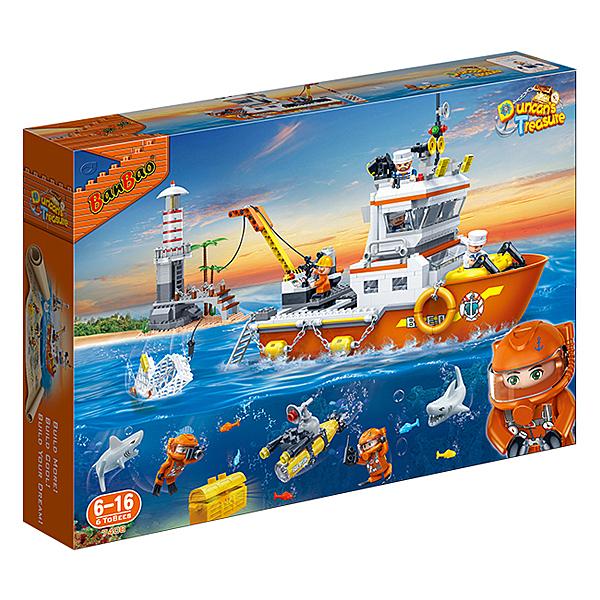 【BanBao 積木】海洋系列-遠洋探險隊 7408