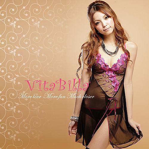 【伊莉婷】VitaBilla 香氛魅力 LUCKMATE 永恆戀曲 睡裙+小褲 二件組
