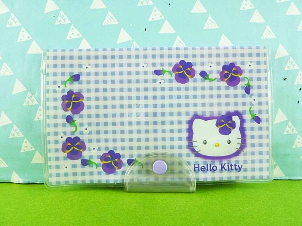 【震撼精品百貨】Hello Kitty 凱蒂貓~證件套~紫花【共1款】