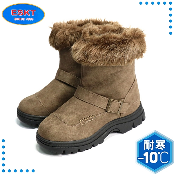 【ESKT 台灣 童 雪靴《咖啡》】SN222/簡易冰爪/兒童短靴/靴子/雪地