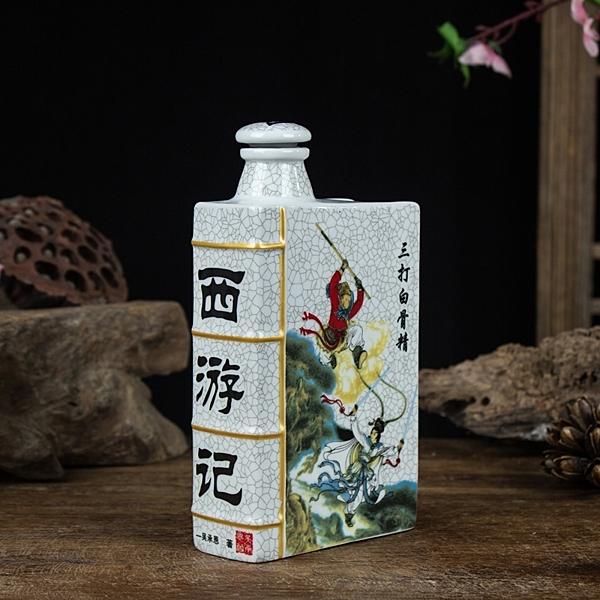 景德鎮藝術1斤四大名著酒壺酒具酒罈古典陶瓷酒瓶收藏裝飾  聖誕節免運