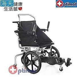 特瑞機械式輪椅(未滅菌)【海夫健康生活館】Optimal Medical 復健型 腳踏 避震 輪椅(OP-AW316)