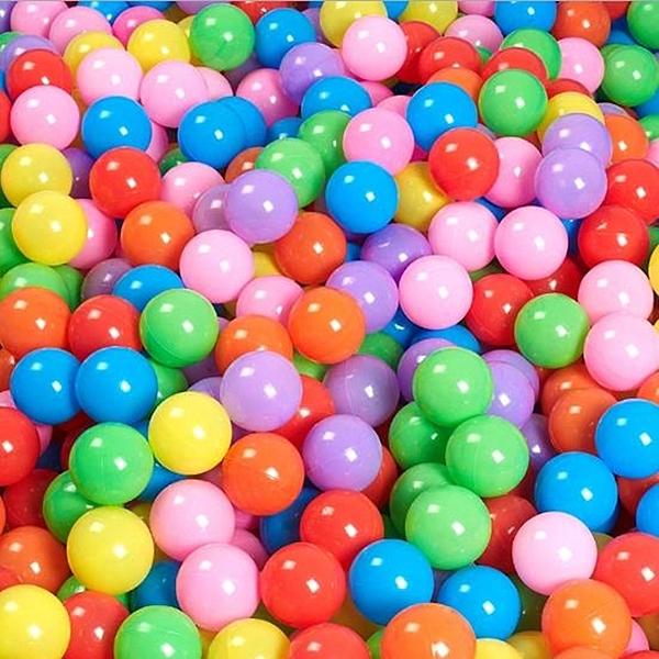 海洋球 塑膠球 7cm加厚 台灣製造 球屋 波波球 遊戲彩球 球池 安全球(無收納袋) 空心球【塔克】