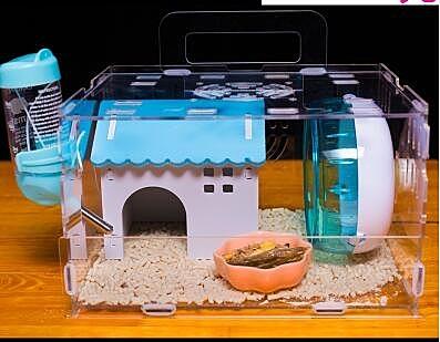 倉鼠籠 倉鼠籠子超大別墅亞克力金絲熊透明雙層倉鼠窩寵物用品基礎籠【限時八五折鉅惠】