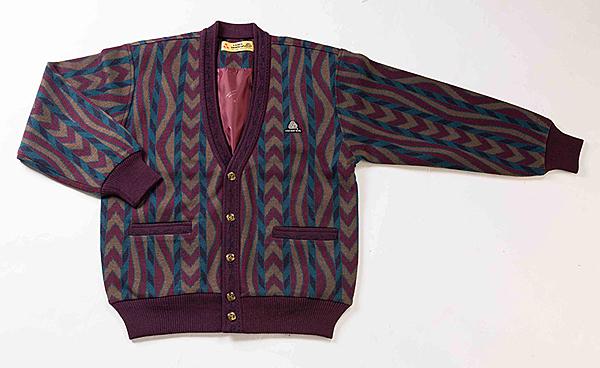 男士 針織開襟外套 開釦外套 三燕牌羊毛外套 毛衣外套 美麗諾羊毛 100%純羊毛 7969-2 棗紅色