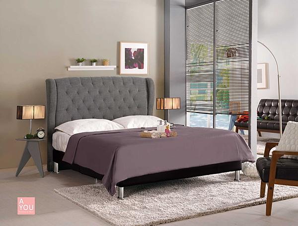 多娜達5尺雙人床(灰色布) 大特價10700元(大台北免運費)【阿玉的家2019】