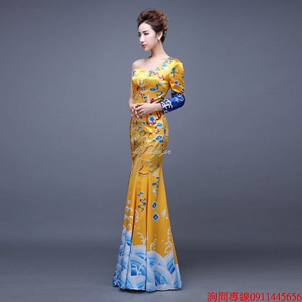 (45 Design) 訂做款式7天到貨 專業訂製款 大尺碼 定做顏色  中國風禮服 旗袍 媽嗎裝 親家母