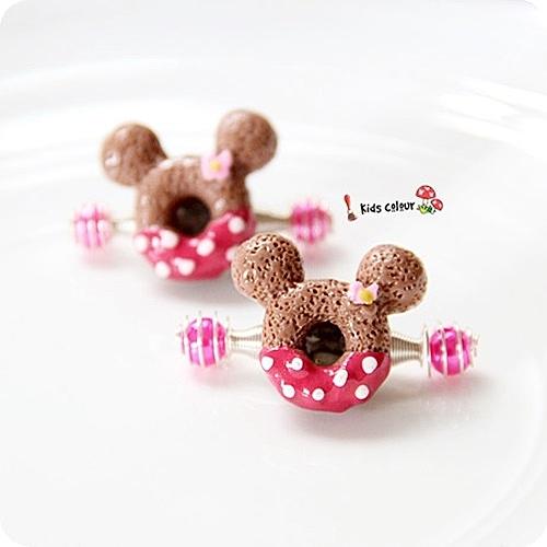 ☆棒棒糖童裝☆兒童寶寶樹脂造型甜甜圈彈簧拉拉夾
