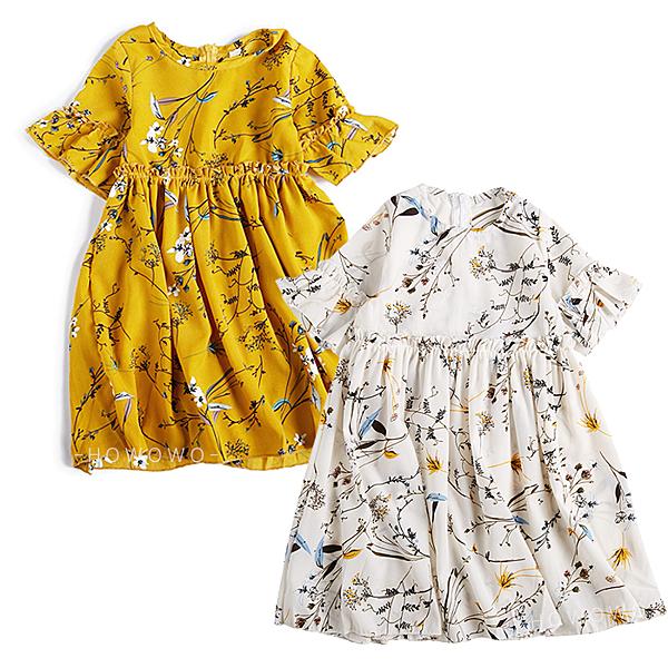 女童短袖洋裝 雪紡連衣裙 夏日透氣 短裙洋裝 小禮服 女孩童裝 SG2036 好娃娃