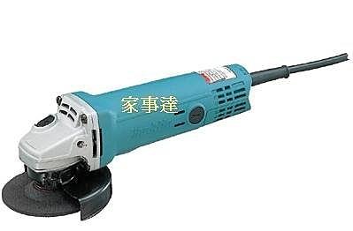 [ 家事達 ]MAKITA--9526B/K 牧田  電動平面砂輪機 110v 特價