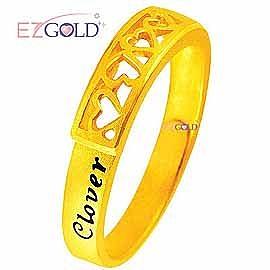 幸運草金飾 ♥以愛之名♥ 黃金戒指(女)