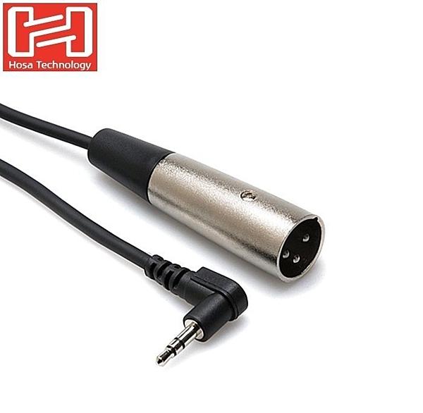 耀您館★HOSA音源線L型3.5mm TRS立體聲麥克風端子轉成XLR3M麥克風音訊線XVM-105M(長1.5米)XLR音源線150cm