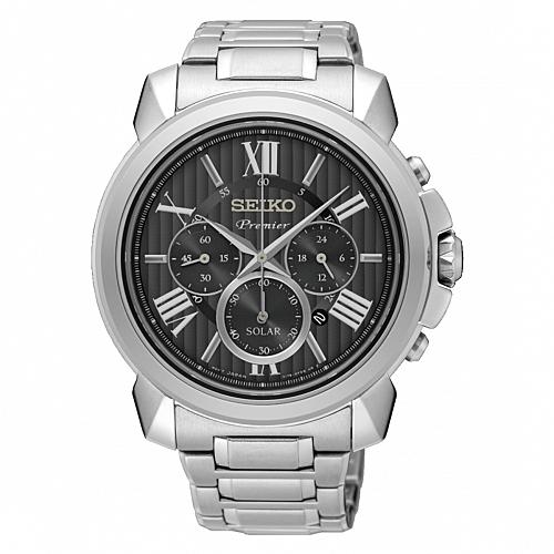 SEIKO 精工Premier 紳仕太陽能腕錶/V175-0EH0D/SSC597J1