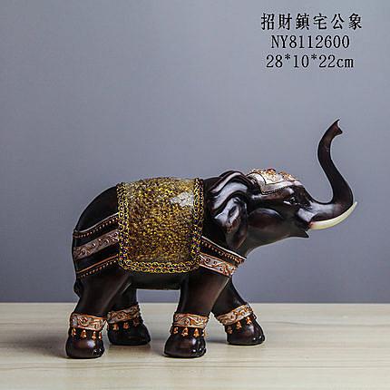 泰國 樹脂貼玻棕木象 02款