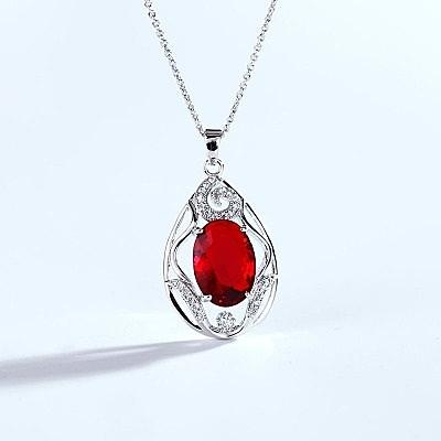 925純銀項鍊 水晶墜子-奢華絢麗迷人生日母親節禮物女飾品4色73aj377【巴黎精品】