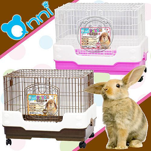 【培菓平價寵物網】Q-nni 2尺日式抽屜式兔籠 精緻套房(加高防噴尿) 兔 貂 天竺鼠皆可 咖啡/粉紅